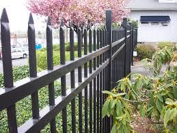 ornamental decorative metal wrought iron fence installation portland