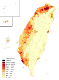 Population Density Map Us Demographics Of Taiwan Wikipedia