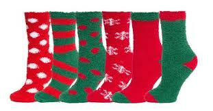 fuzzy christmas socks buy fuzzy and soft christmas socks 6 pack size 9 11 in cheap