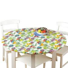 Plastic Fitted Tablecloths Amazon Com Fitted Elastic No Slip Fit Table Cover With Soft