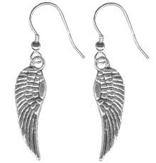 angel wing earrings tiny angel wing earrings pair of pewter feather angel