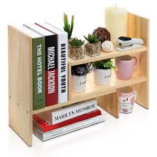 office desk with bookshelf adjustable natural bamboo desk bookshelf for office home expandable