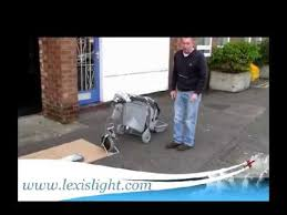 the lexis light foldable mobility scooter folding the lexis light easy travel scooter youtube