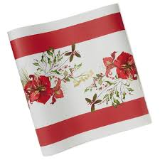 Holiday Table Runners by Holiday Watercolor Floral Paper Table Runner Party Essentials