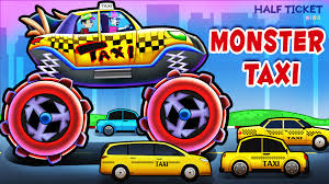 kids monster truck videos taxi monster truck monster taxi truck videos for kids taxi for
