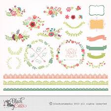 lace ribbon flower clipart