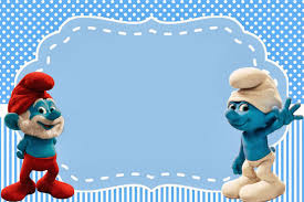 thomas and friends birthday party invitations smurfs invitations and party free printables for boys party