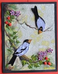 paper quilling birds tutorial sparrows with flowers filigrama pinterest quilling flowers
