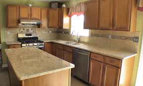 Kitchen Countertop Material by Light Cherry Cabinets What Color Countertops Countertop