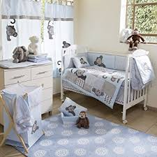 baby bedding design blue monkey crib baby boy bedding sets amazon