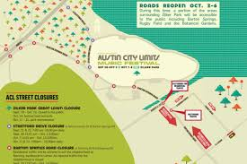 City Of Austin Map by Acl Fest Street Closures Map Weekend Two Curbed Austin
