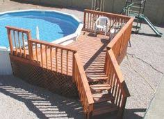 deck plans for round above ground pools google search pool