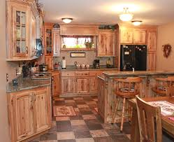 rustic hickory kitchen cabinets impressive design 25 inspirational