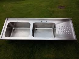 Large Kitchen Sinks Large Kitchen Sink Stainless Steel Double Basin Commercial