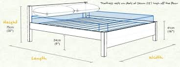 Height Of Bed Frame Headboard Measurement Mattress Measurements Dimensions