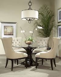dining room glass table modern dining room decor with glamorous round glass table throughout