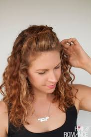 hair braid across back of head curly hair tutorial the half up braid hairstyle hair romance