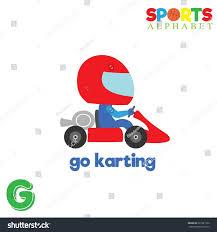 cute sports alphabet vector g letter stock vector 521581522
