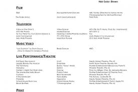Sample Dance Resume by Professional Dancer Resume Sample Reentrycorps