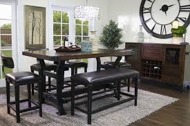 the iron works counter height bench mor furniture for less