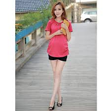Trendy Plus Size Maternity Clothes Maternity Clothes Summer Fashion Elastic Waist Abdominal Belly
