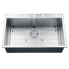Kitchen Sinks Drop In Double Bowl by Ruvati Rvh8001 Drop In Overmount 33