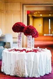 Carnation Flower Ball Centerpiece by Grouping Of Red And White Carnation Centerpieces With Candles