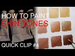 how to mix skin tones quick clip 4 youtube