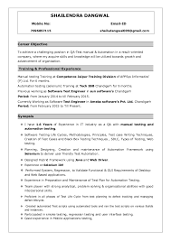 Experienced Manual Testing Resume Type My Classic English Literature Cover Letter Msc Forensic