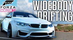 bmw m4 widebody forza horizon 3 gameplay widebody bmw m4 drifting