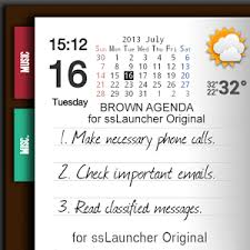 app brown agenda for sslauncher or apk for windows phone android - Agenda Apk