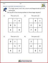 math puzzles magic square math pinterest math squares and
