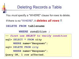 Delete From Table Sql Database Access Using Sql Ppt Download