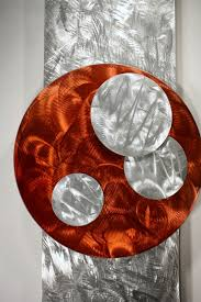 Abstract Home Decor Orange Art Metal Wall Sculpture Abstract Home Decor Painting