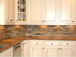 backsplash kitchen with granite countertops brick backsplash with