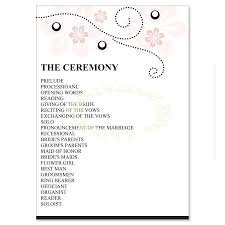 Examples Of Wedding Program 7 Best Images Of 1 Page Wedding Program Templates Wedding