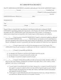 Real Estate Addendum Template pet addendum agreement pdf property management forms pinterest