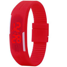 rubber bracelet watches images New fashion sport led watch candy color silicone rubber touch jpg