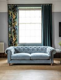 Blue Velvet Chesterfield Sofa by The Best Chesterfield Sofas