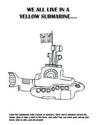 beatles yellow submarine coloring coloring pages