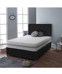 discount 3pc black double bed u0026 mattress set secretsales