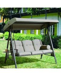 Swing Patio Chair Sweet Deal On Abba Patio 3 Seat Outdoor Polyester Canopy Porch