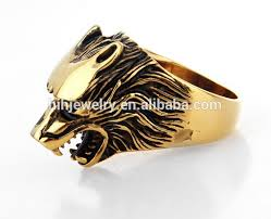 thumb rings for men wolf thumb rings for men gold plating wolf ring stainless