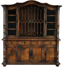 Old World Style Kitchen Cabinets by Elegant Kitchen Hutch Furniture Featuring Double Door Kitchen
