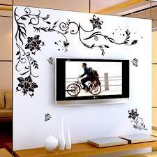 diy mural black vine flower butterfly wall sticker decals vinyl diy mural black vine flower butterfly wall sticker decals vinyl art decor lxl in wall stickers from home garden on aliexpress com alibaba group
