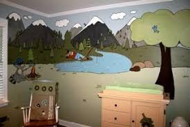Outdoor Themed Baby Room - baby boy u0027s rugged cartoon mountain nursery