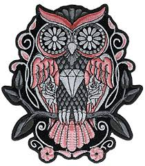 amazon com sugar owl roses 5 inch iron on patch htl10064