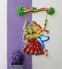 buy radha krishna plastic 12 x 1 x 16 inch wall hanging by