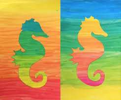 complementary paint colors silhouette in color gradations silhouette painting silhouettes