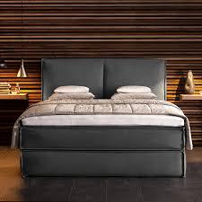 Wohnideen Schlafzimmer Bett Boxspringbett Kinx Webstoff Anthrazit Wohnstil Modern